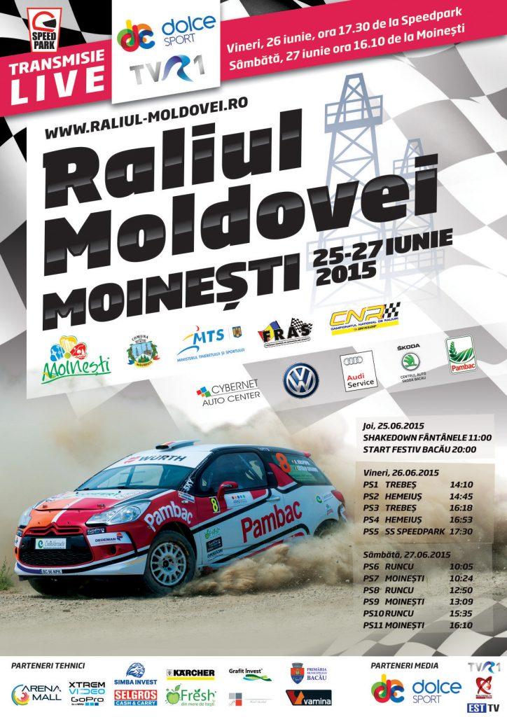 Afis Raliul Moldovei Moinesti 2015 - Bacau