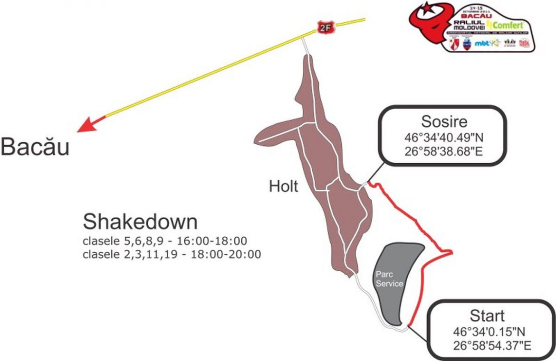 Harta Shakedown Raliul Moldovei Comfert - Bacau 2011
